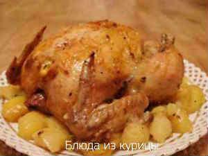 курица с картофелем запеченная в рукаве