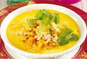 индийский куриный суп с яблоком рецепт
