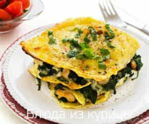 лазанья с курицей и овощами рецепт