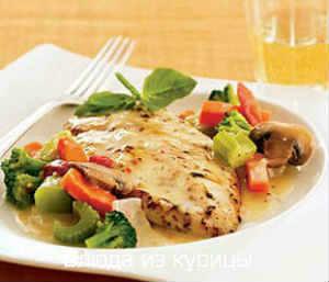 куриная грудка тушеная с овощами в кастрюле