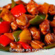 филе индейки тушеное с овощами