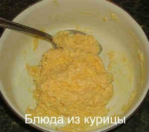 жареная куриная грудка с сыром_смешать сыр с майонезом