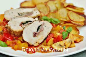 рецепт фаршированная куриная грудка ветчиной и сыром