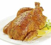жареная курица с медом и орехами