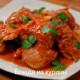 тушеное куриное филе в томатной подливке