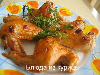 жареные куриные крылышки на решетке