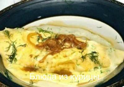 омлет с курицей и грибами рецепт