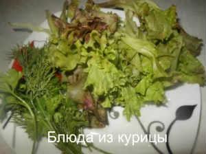 омлет с зеленью_вымыть зелень