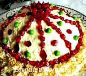салат шапка монамаха рецепт с курицей