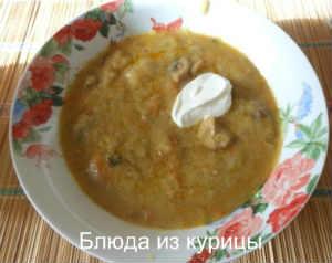 суп на курином бульоне с белыми грибами и манной крупой рецепт