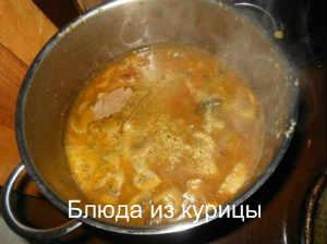 суп на курином бульоне с белыми грибами и манной крупой_добавить грибы и овощи