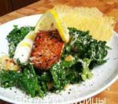 салат цезарь с лососем_рецепт