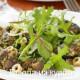 рецепт теплый салат из куриной печени с рукколой