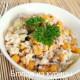 салат с курицей,огурцами и кукурузой