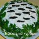 салат с курицей и грибами белая береза